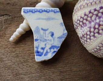 Rare Pottery Collection / Blue Figurative Pottery / Scottish Sea Pottery / Vintage Pottery