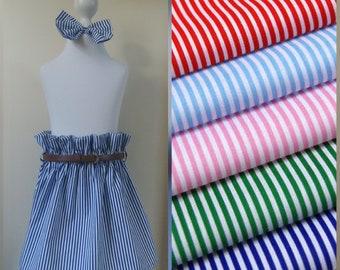 handmade high waist ruffle skirt and hair bow