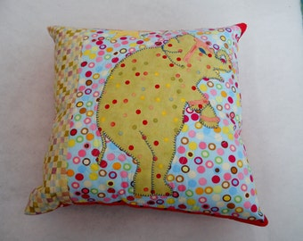 Dancing Elephant Circus Themed Pillow Spots and Dots Kids