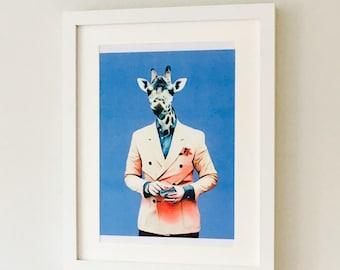 The Dandy Giraffe Print