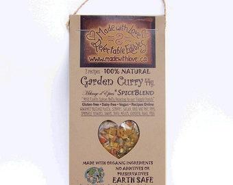 2 oz Garden Curry Eco Artisan Gourmet Spice Blend  - Food Organic - Herb Spice - Edible Gift Food Gift - Pasta Sauce Mix - Dressing Dip Mix