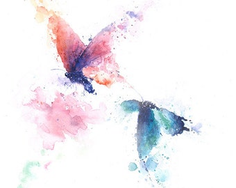 Schmetterlings-PRINT - Küche, Aquarell Schmetterling Wandkunst, Insekten Kunst, Schmetterlings-Kunst, Schmetterling-Liebhaber-Geschenk, Schmetterling-Dekor