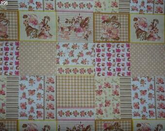 C191 coupon 35x50cm orange Patchwork fabric