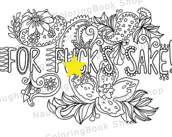 Swear Word Coloring Page Graduation Gift Printable Coloring