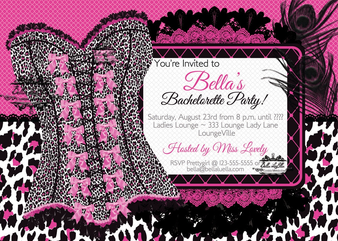 Bachelorette Party Invitation Lingerie Shower Corset