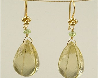 Lemon Citrine Dewdrop Earring in 18kt gold