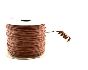 Paper Cord Brown Wired Flexible Tourbillon Craft Cord 10 yards