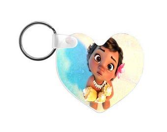 "Wood heart ""Thomas"" cartoon new in Blister shaped keychain"