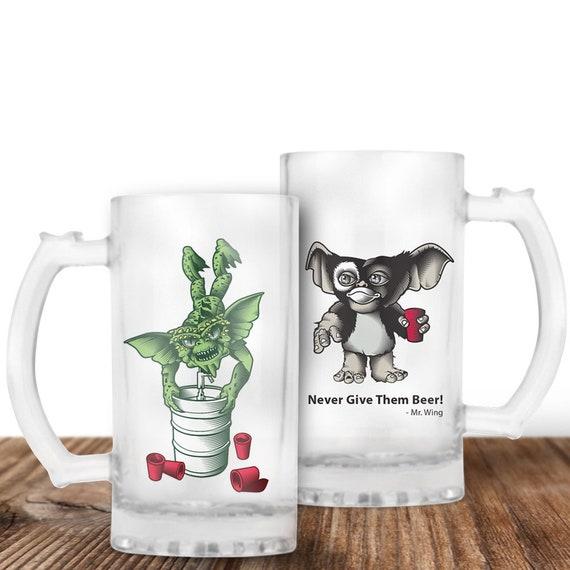 Gremlins Beer Mug - Gizmo Beer Stein - Spike and Gizmo -Cult Horror Gift  Craft Beer Mug -Beer Mug -Beer Lover Gift -Perfect Beer Lover Gift