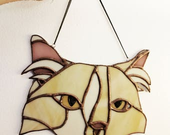 Custom Stained Glass Pet Portrait