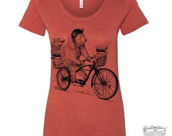 Womens BOOK BEAR Lightweight Tri Blend t shirt [+Colors] s m l xl xxl custom custom