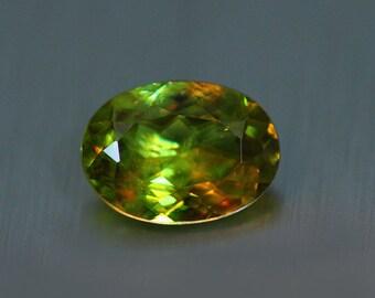 2.12CTS Wonderful 100% Natural Superb COLOUR CHANGE sphene-loose gemstone