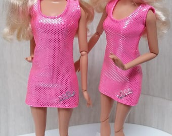 Shiny dress for Barbie