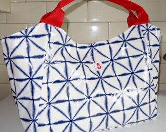 Oilcloth Bella Bag - Blue Ink
