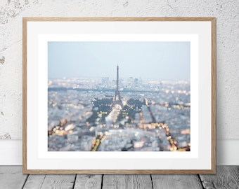 Sunrise in Paris, Eiffel Tower, Wall Art, Photography, Digital Download, Romantic art, Digital Print, Art & Collectibles, Neutral color