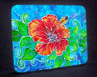 Tropical Hibiscus Cutting Board or Hot Plate
