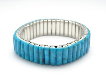 Natural turquoise extensible bracelet