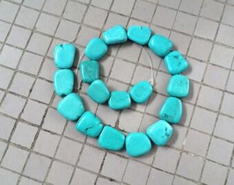Full Strand Howlite Flat Nugget Beads