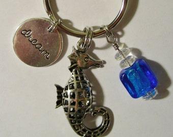 Seahorse Dream, purse charm purse jewelry bag charm key ring key chain tote dangle purse accessory bag decoration.Decorate tote bag style
