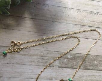 Gold Four Leaf Clover Necklace. Lucky Four Leaf Clover necklace. Clover necklace. Shamrock Necklace. Gold Filled necklace.