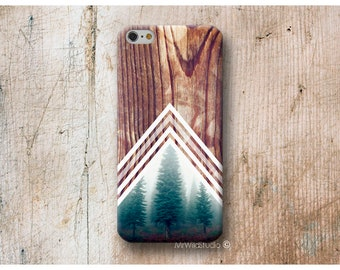Forest Chevron Wood print Phone Case for Huawei P20 Pro P10 Plus P9 P8 Lite Mate 10 9 S G8 P SMart Nexus 6P Cases