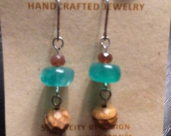 Faceted Sandstone Earrings