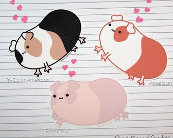 Chibi Guinea Pig Stickers and Magnets