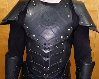 Leather Armor Nightingale Chest, Back, and Shoulders
