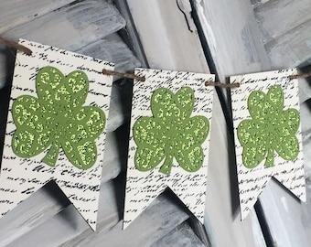 St. Patrick's day shamrock banner ~ Vintage style.