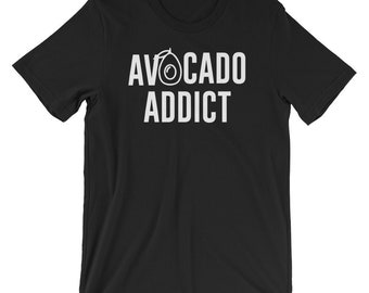 Avocado Addict Funny T-shirt Foodie Tee