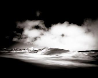 Sand Dunes Fine Art  Photography - Desert Wall Art- Monochrome African Landscape - Home Decor