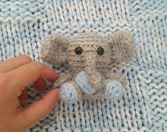 Mini Crochet Elephant, Mini Stuffed Animal Elephant, Plush Elephant, Jungle Animals, Kid's Birthday Gift, Gifts under 30, Amigurumi Elephant