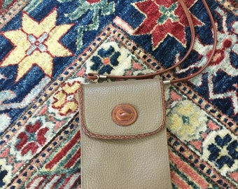 Vintage Leather Dooney and Bourke Cross-Body Neutral Bag