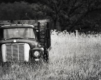 Vintage Truck in Black & White - 8x10 Fine Art Photograph