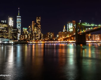 Lower Manhattan Brooklyn Bridge East river