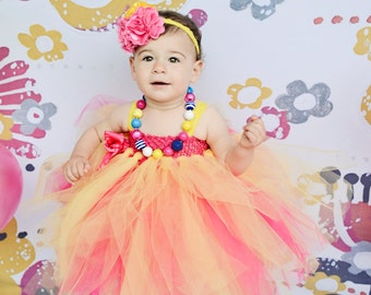 Bubblegum Bead Necklace M2M Birthday Outfit, Choose Your Color, Custom Made Chunky Jewelry, Child Size Photo Prop Necklace