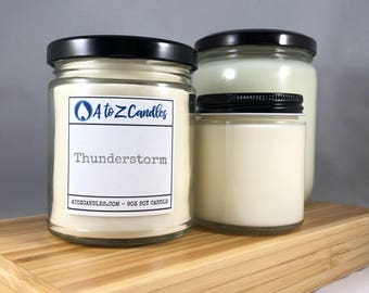 Thunderstorm Candle Storm Watch Candle Storm Candle Soy Candle Storm Watch Ocean Candle Summer Candle Glass Jar Candles