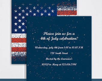 4th of july party invitation printable 4th of july