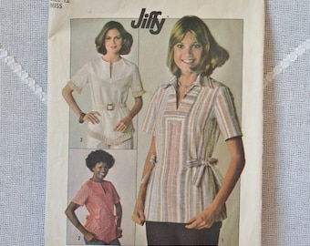 Vintage Simplicity7894 Sewing Pattern Misses Tops Size 12 Crafts  DIY Sewing Crafts PanchosPorch