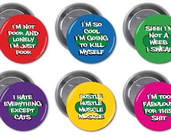 Osumatsu-san 2 1/4 inch Pinback Buttons
