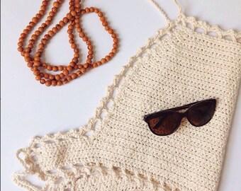 Halter neck top  |   Crochet top   |   Festival wear   |   Beach wear   |   Cotton   |