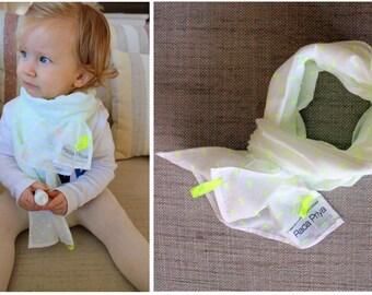 Yellow Neon Spot Lightweight Cotton Scarf Toddler Unisex