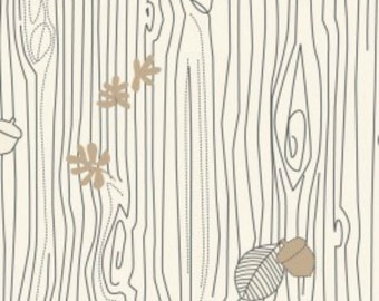 SALE -  Camelot Fabrics - Day At the Zoo - Bark in Cream  - Fat Quarter