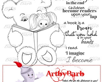 Imagine, cute line art, digital stamp, clip art, printable, wordart, sentiments, to colour, to craft, greeting card, crafty make, cute digi