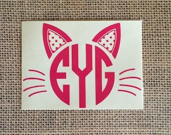cat monogram / cat / monogram / meow / crazy cat lady / cat lady / crazy / lady / kitten
