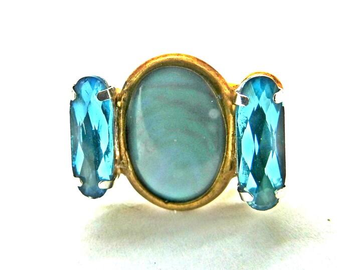 UNIQUE BLUE RING for women