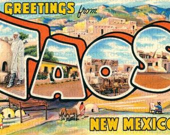 Taos, New Mexico, New Mexico Postcards, NM Postcard, New Mexico State, New Mexico Postcard, Land Enchantment, NM Postcards, New Mexico Art