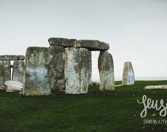 Stonehenge Photography, Large Wall Art Print, Travel Photography, Mystic, Art Print, Fine Art Photography - Stones II