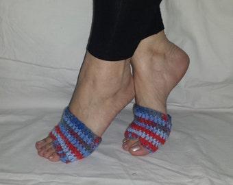 FLIP FLOP SOCKS, Crocheted Socks, PiYo Pedicure Socks, Protects Your Feet from Blisters, Only One Pair, Dance n Exercise Socks, Feet Savers