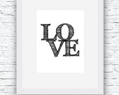 Typography Poster, Love W...